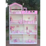 Casita Muñecas Barbie Ascensor Piscina Gigante Hoy Promo!!!!