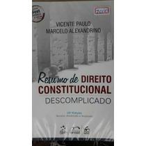 Resumo De Direito Constitucional Descomplicado 10° Edição