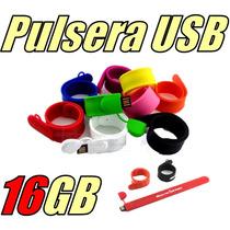 Pulsera Roja Llave Memoria Usb 16gb Slap On Silicon