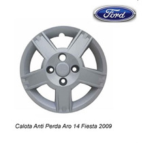 Jogo Calota Aro 14 Ford Ka Fiesta 2009 2010 2011 + Emblemas