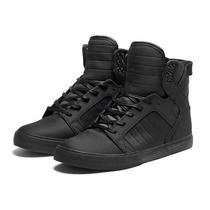Supra Skytop Black Skate Shoe