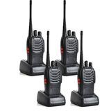 Kit 4 Radio Comunicador Walk Talk Baofeng Ctcss Segurança