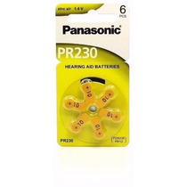 Pilha Bateria Aparelho Auditivo - Panasonic Pr 10 / 230