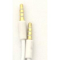 Cabo Auxiliar P2 P2 Dourado 1,5m 3,5mm Ipod Ipad Mp3 Branco