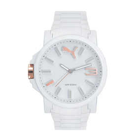 Relógio Masculino Puma 96295g0psnv2 45mm Branco