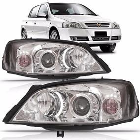 Par Farol Astra Sedan Hatch 2003 A 2012 Foco Duplo Cromado