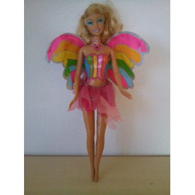 Linda Boneca Barbie Fada Da Floresta