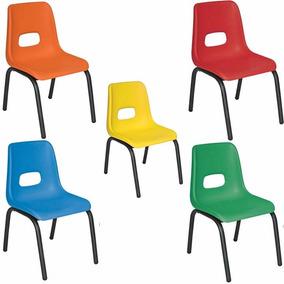 Silla Para Preescolar Varios Colores Paq 5 Sillas