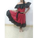 Vestido Llanera O Tambor Talla 10 A 12