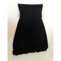 Vestido Negro Straples De Algodon Y Lycra Talle M