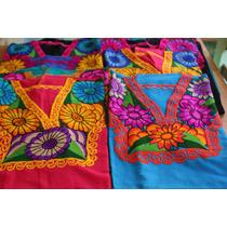 Blusa Talla Extra Grande Artesanal Chiapas Set De 12 Piezas