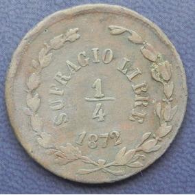Moneda 1/4 De Real Durango Sufragio Libre 1872 Cobre