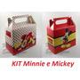 16 Caixinha Surpresa Lembrancinha 8 Minnie Vermelha 8 Mickey