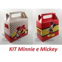 80 Caixinha Surpresa Lembranc.40 Minnie Vermelha 40 Mickey