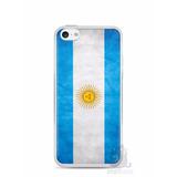 Capa Capinha Case Iphone 5c Bandeira Da Argentina
