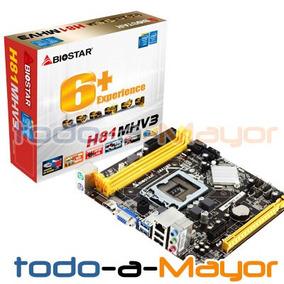 Tarjeta Madre H81mhv3 Biostar Core I3 I5 I7 Socket 1150