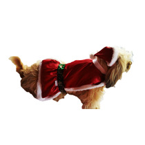 Vestido Pet Mamãe Noel Cachorro Nº. 6 Roupinha Cães