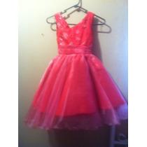 Hermoso Vestido Para Fiesta Color Coral Para Niñas