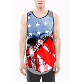 Camisa Camiseta Masculino America Skull Estilo Thug Swag 09