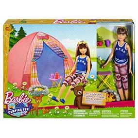 Juguete Barbie Acampada Tienda De Campaña, Skipper Muñeca Y