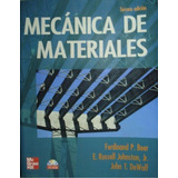 Libro: Mecánica De Materiales - Johnston Beer - Pdf