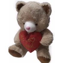 Urso De Pelúcia Coração Ursinho Fofy Toys Te Amo Rsp