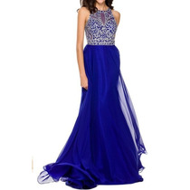 Vestido De Fiesta Juliet Modelo 602 # M Color Royal Blue