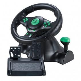 Volante Multilaser 4 Em 1 Xbox360 Ps2 Ps3 E Pc - Js075 Preto