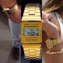 Reloj Casio Retro Vintage Dorado Y Plateado