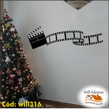 Adesivo De Parede Decorativo Rolo De Filme Cinema Will316