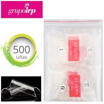 500 Tips, Uñas Postizas Curva C Transparente De Alta Calidad