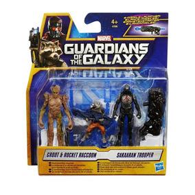 Guardiões Da Galáxia - Bonecos Rocket E Groot X Sakaaran