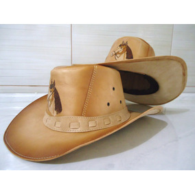 Chapeu Country Cowboy Australiano - Couro