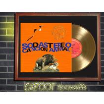 Soda Stereo Cancion Animal Lp Disco Oro Enmarcado P/ Colgar
