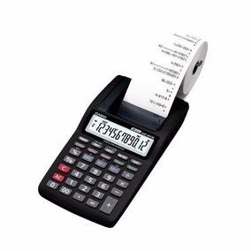 Calculadora Casio Com Impressao Hr-8tm-bk 12 Digitos + Fonte