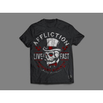 Camisa Affliction - Caveira Cartola