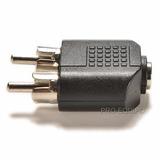 Adaptador Plug P2 3.5mm Femea X 2 Rca Macho - Frete R$7,50