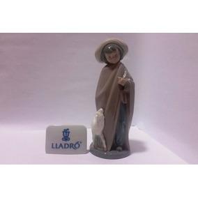 Boneca De Porcelana Espanhola Lladró Nao Cabritinho No Chão