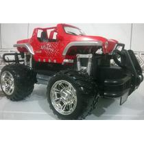 Carrinho Rc Jeep Hummer Pickup Hammer2 Damadores Mp3 35cm