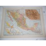 Mexico Sierra Madre Oriental Plano Mapa Lamina 1969
