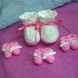 Souvenirs Mini Escarpines Tejidos Crochet Nacimiento