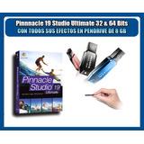 Pinnacle Studio 19 Ultimate + Pack Efectos En Pendrive 16 Gb
