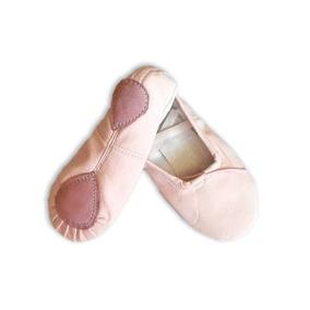 Zapatillas Media Punta. Color Rosa En Cuerina. Liquidación