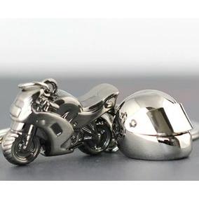 2 Llaveros Metalicos Motocicleta Y Cascos Envío Incluido