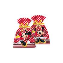 Sacola Surpresa De Aniversário Festa Minnie Vermelha - 8unid