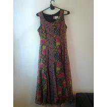 Vestido Largo Hippie Chic Floreado Con Recortes