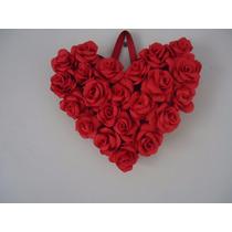 Lindo Quadro De Rosas Vermelhas Em Eva Decoração Romântica