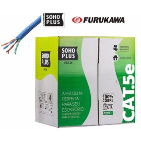 Cabo De Rede Furukawa Cat5e Cmx Soho Plus Azul 100 Metros