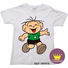 Camiseta Infantil Turma Da Mônica Cebolinha Cascão Magali 4