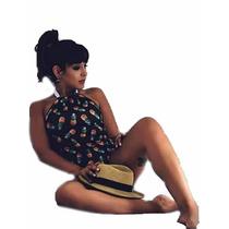 Blusas Femininas Body Maio Abacaxi Tendencia Verao 2017 Peq.